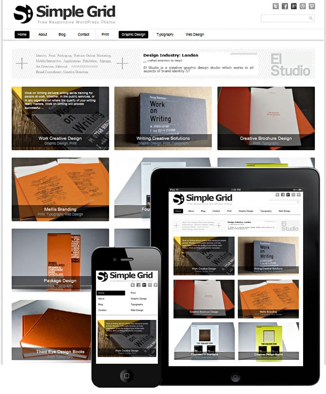 Free Grid Style WordPress Themes 37