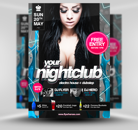 15 Best PSD Party Flyers For Free 8