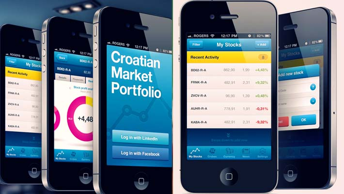Croatian Market Portfolio iPhone App 1