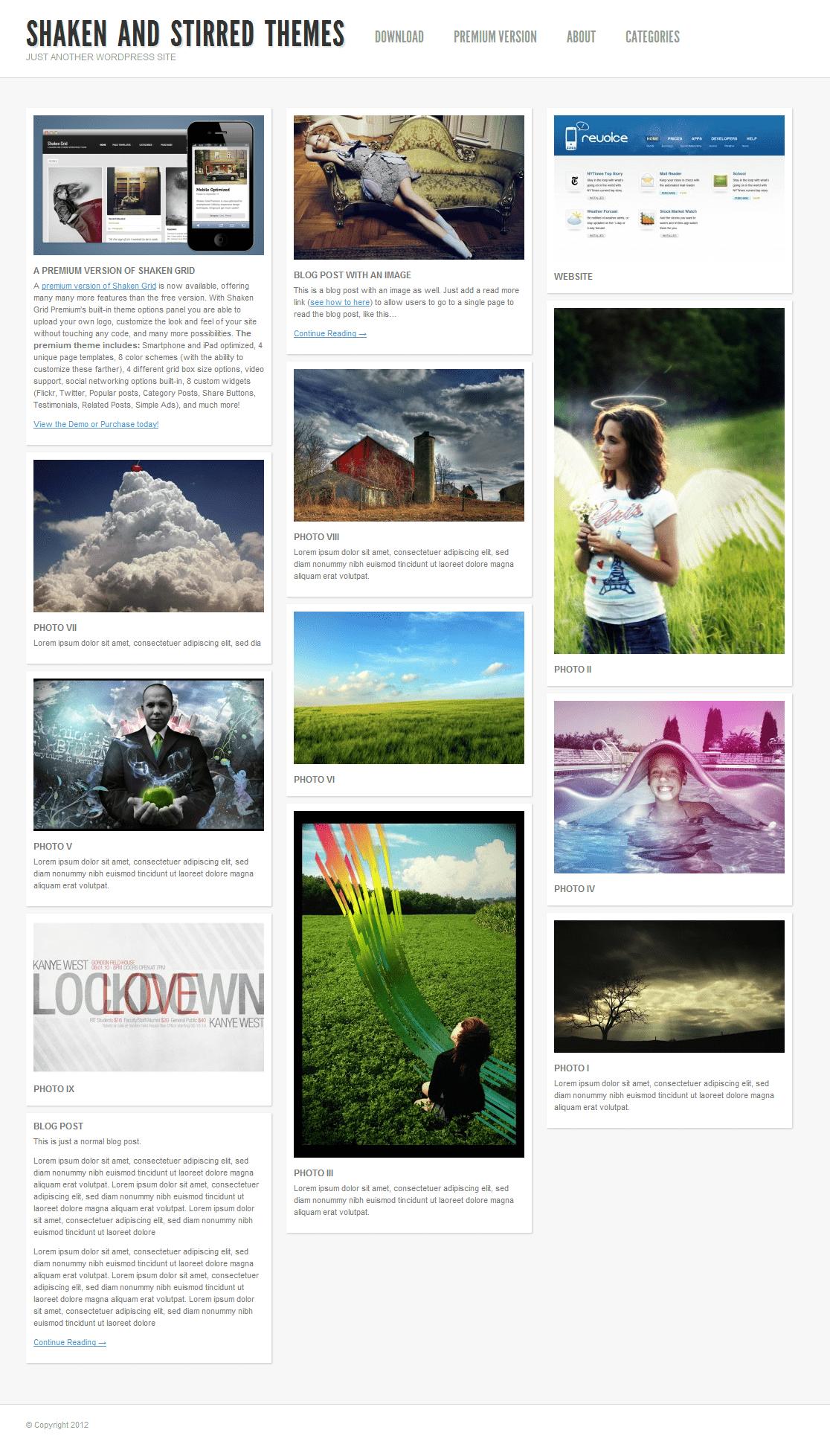 A Bunch of WordPress Pinterest Themes  7