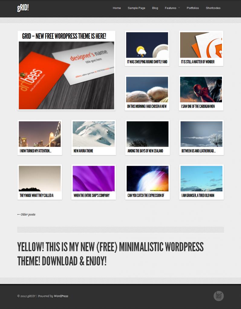 Free Grid Style WordPress Themes 44