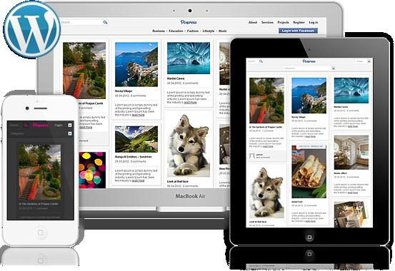A Bunch of WordPress Pinterest Themes  4