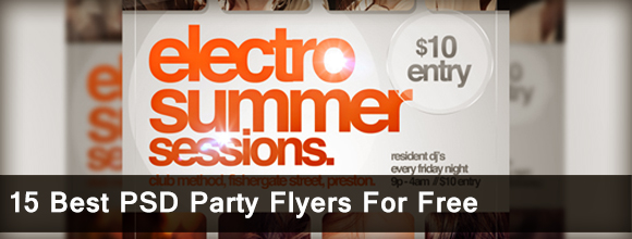 15 Best PSD Party Flyers For Free 1