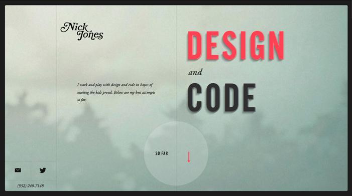 Showcase of Best Typography Web Design Inspiration 1