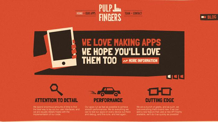 Showcase of Best Typography Web Design Inspiration 10