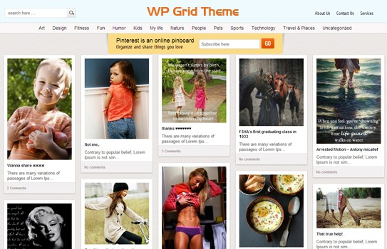 Create a Inspiration Of Website With Pinterest WordPress Themes  3