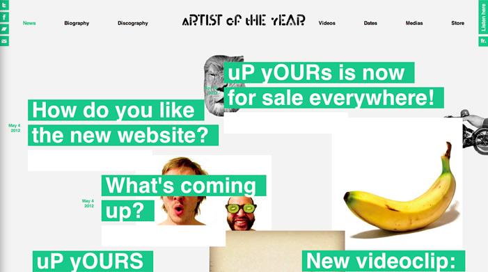 Showcase of Best Typography Web Design Inspiration 4