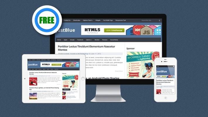 Free Responsive WordPress Theme Justblue