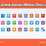Free Sleek Social Media Icons