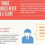 5 Things You Should Never Say to a Client - Infographic