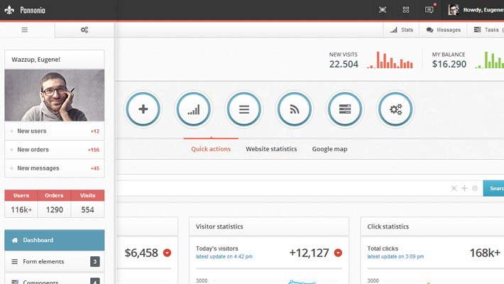 Free HTML & CSS Backend Admin Panel Template
