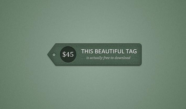 price tag psd