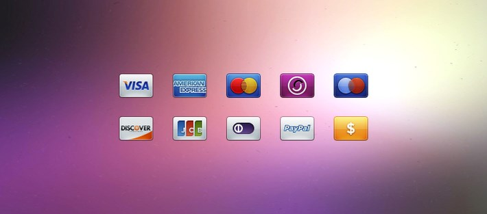 payment card icons psd