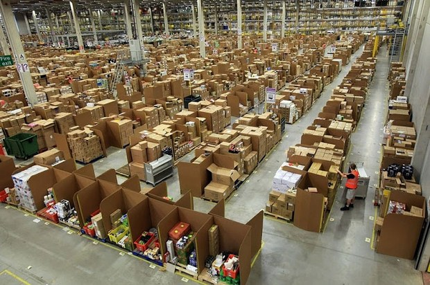 Inside Pictures of Amazon Warehouse 47