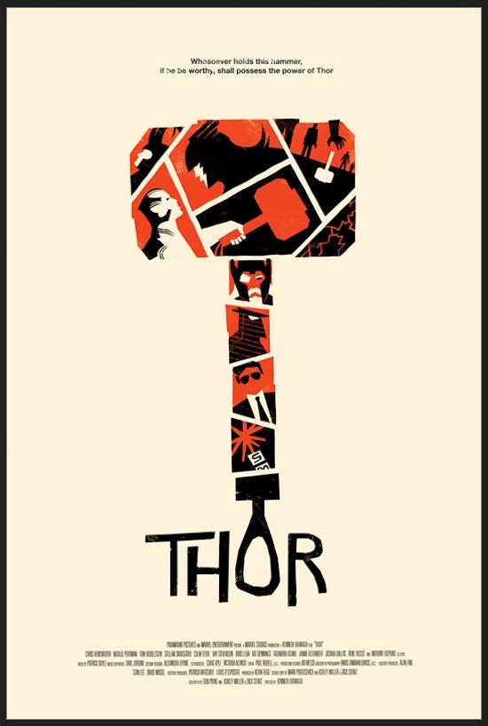 Creative & Alternative Marvel Comic Movie Posters 40