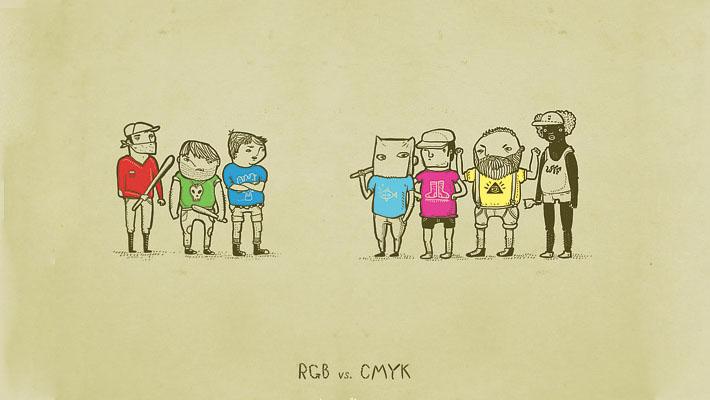 RGB vs CMYK - Infographic 1