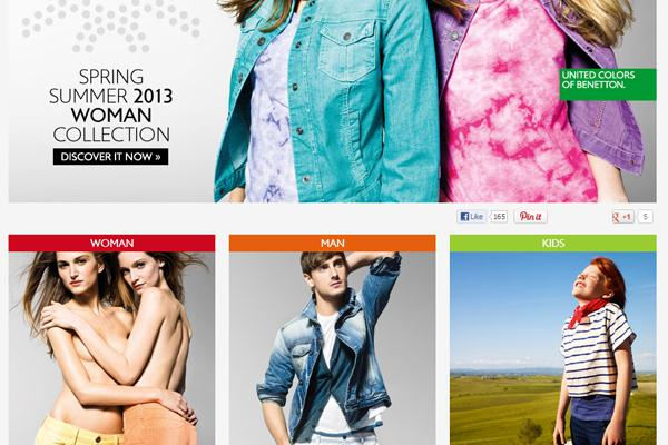Benetton website