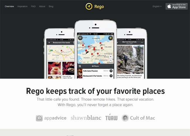 landing pages for apps