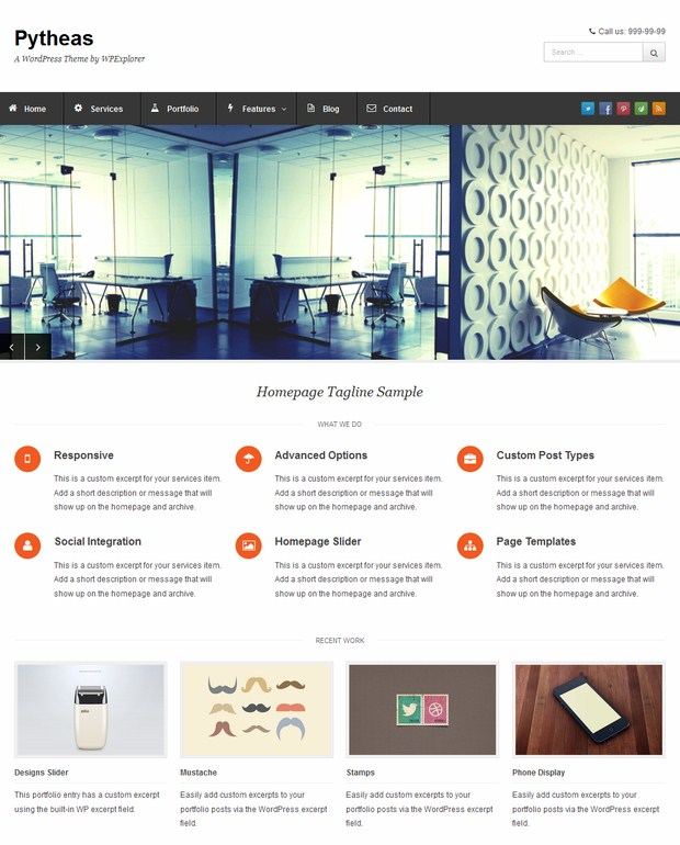 10 free responsive wordpress themes for What wordpress template is this