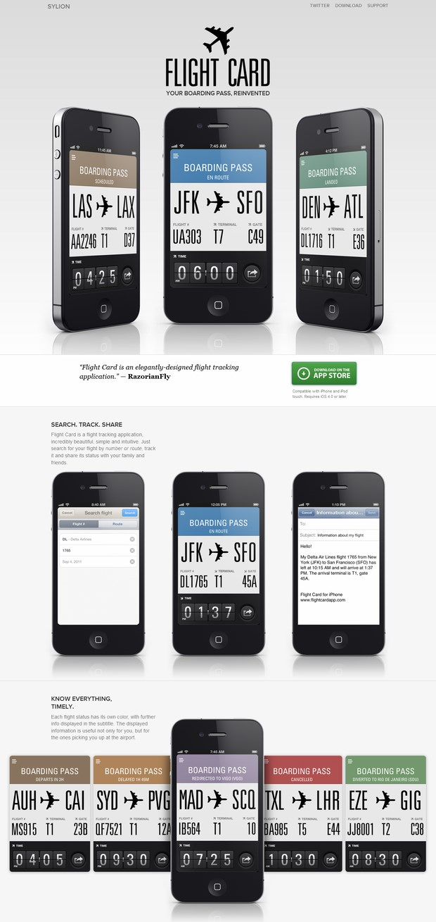 iPhone website design