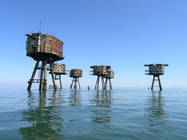 Thames Estuary Army Forts or the Maunsell Forts