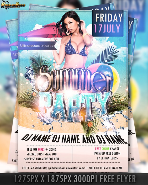 Party Flyer PSD 22
