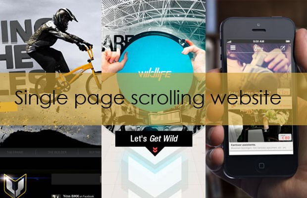 Guide to single page scrolling websites