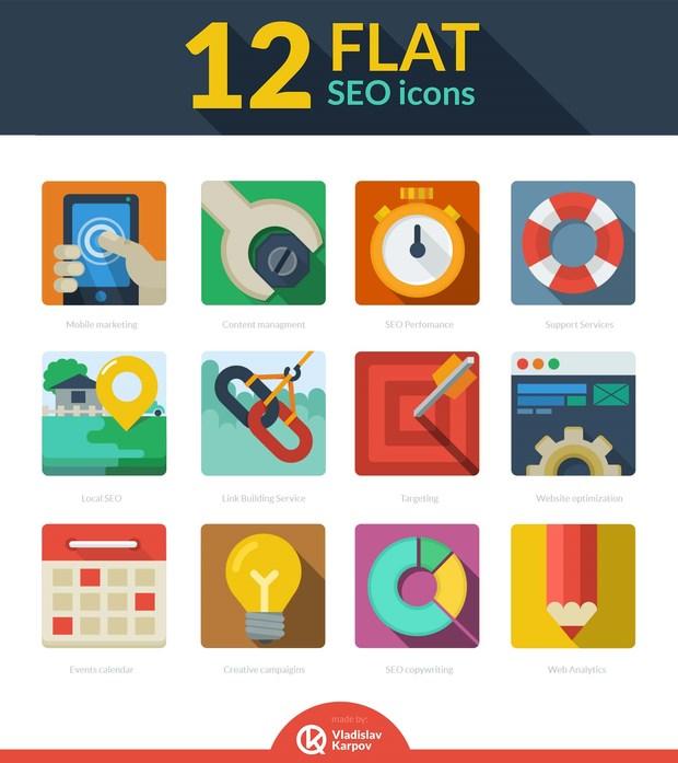 12-Flat-SEO-icons
