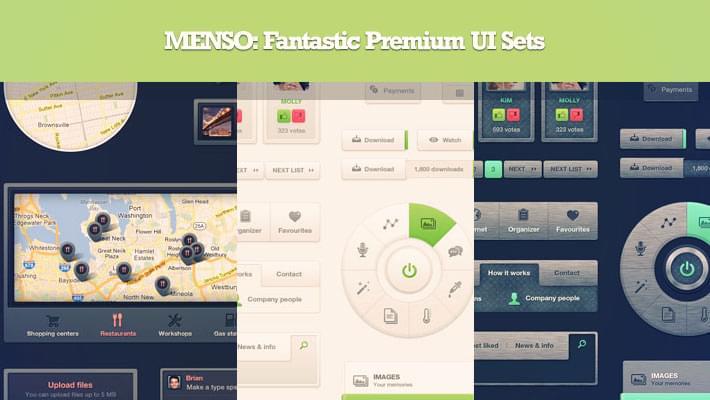 Deal of The Week: 4 Menso UI Set Bundle 1