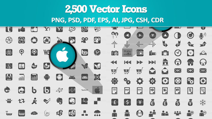 Deal of The Week: 2,500 Vector Icons 1