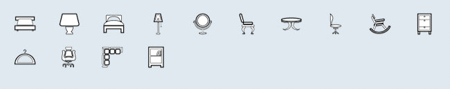 Furniture (14 icons)