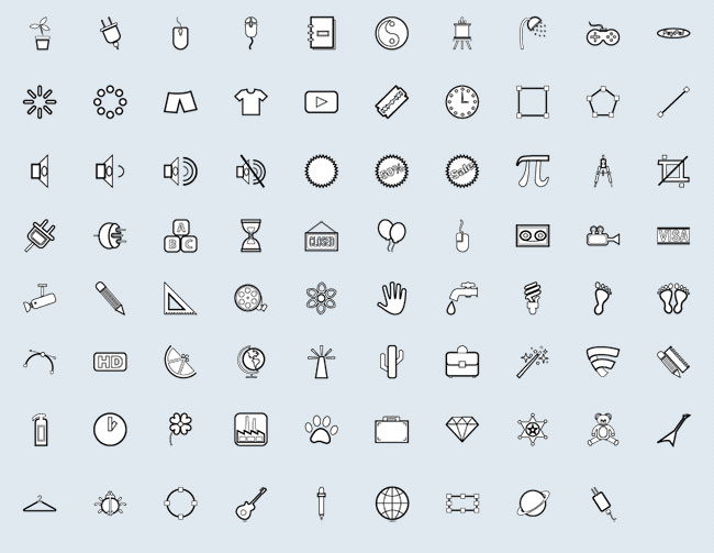 Miscellaneous (79 icons)