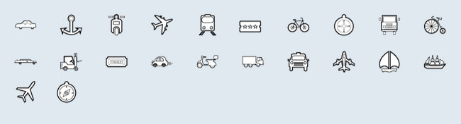 Transport (22 icons)