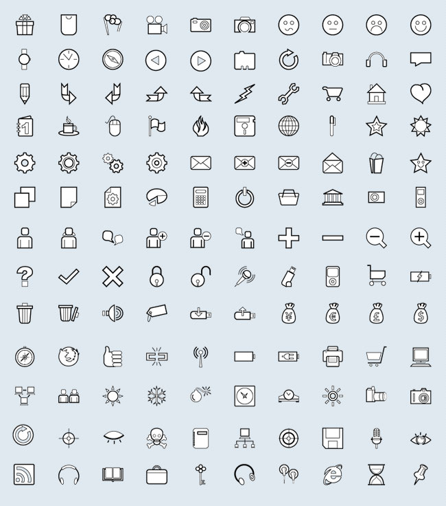 User Interface (130 icons)