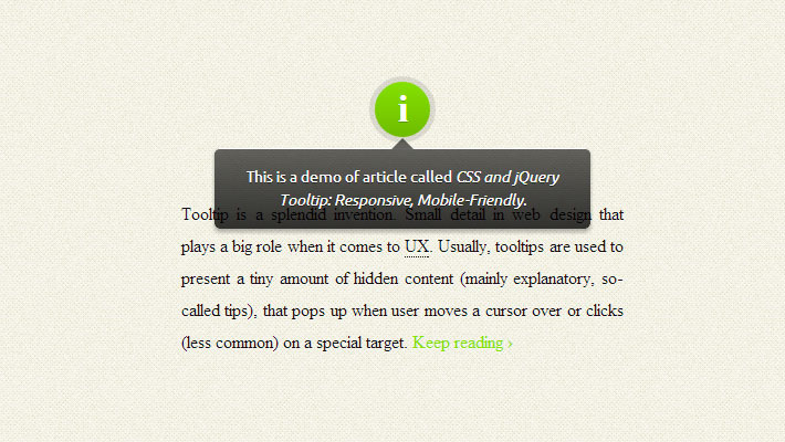 Build A Responsive Tooltip With jQuery 1