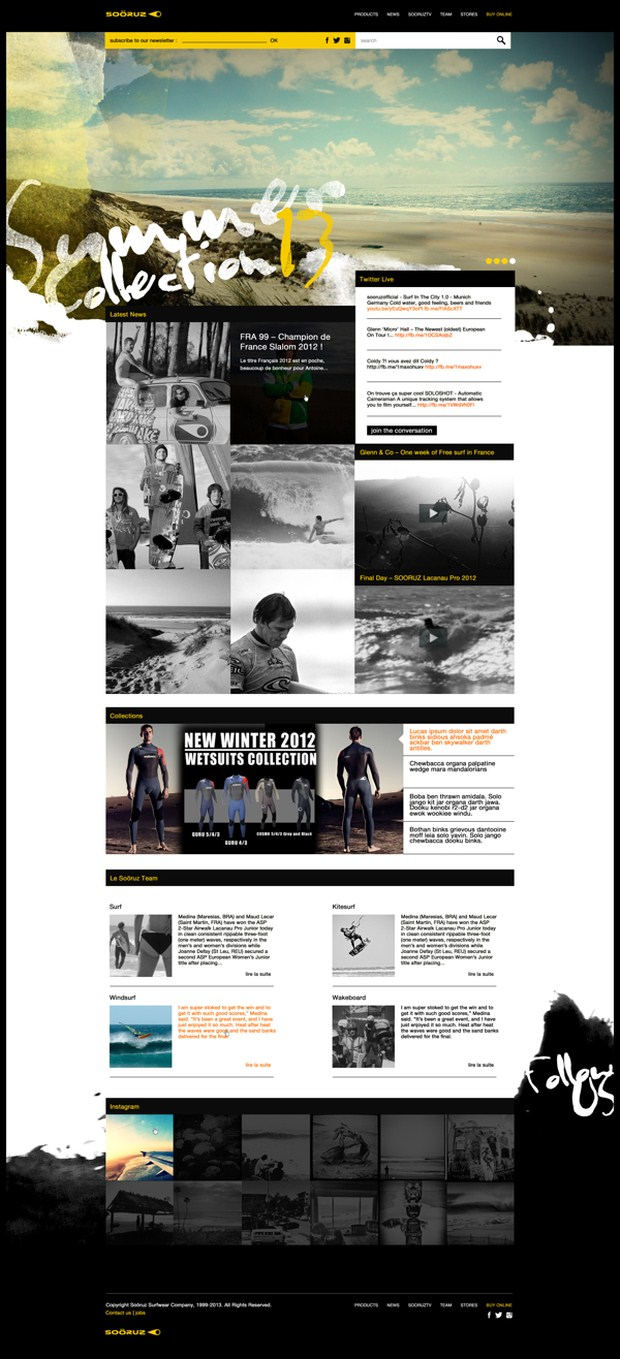Web | Soöruz Concept web design inspiration