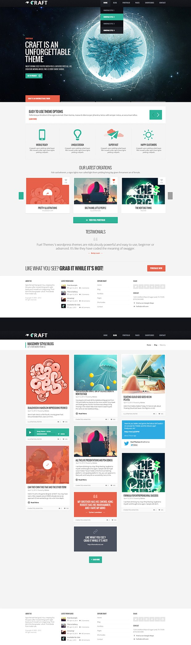Craft web design inspiration
