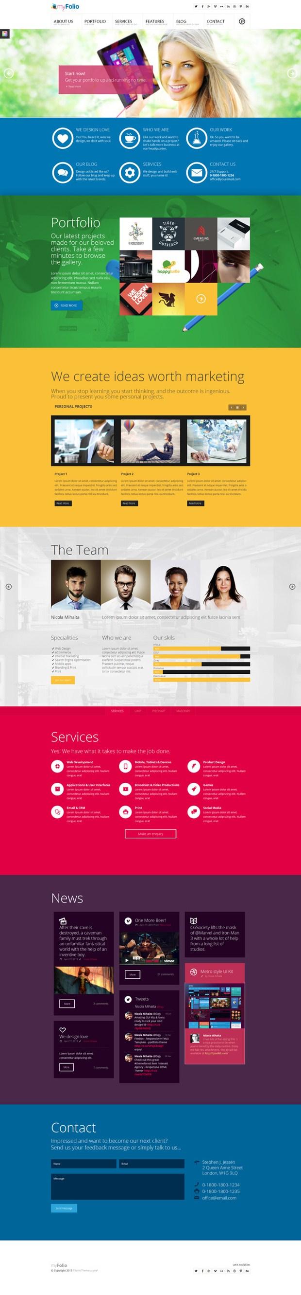 myFolio - Parallax HTML5 Template