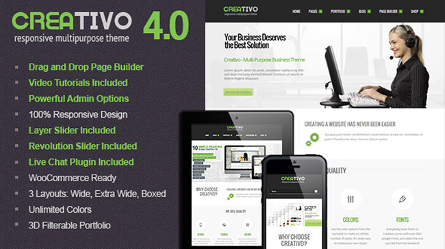 creativo Responsive WordPress Theme
