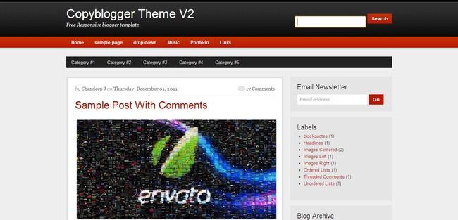 Copyblogger-V2 A Responsive Blogger Template