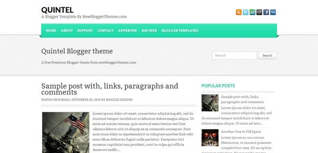 Quintel Blogger Template