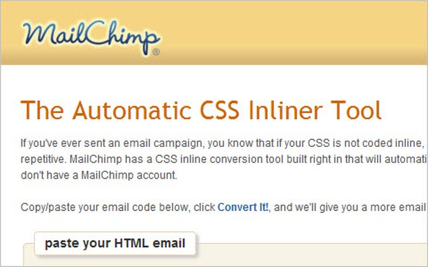 Automatic CSS Inliner Tool