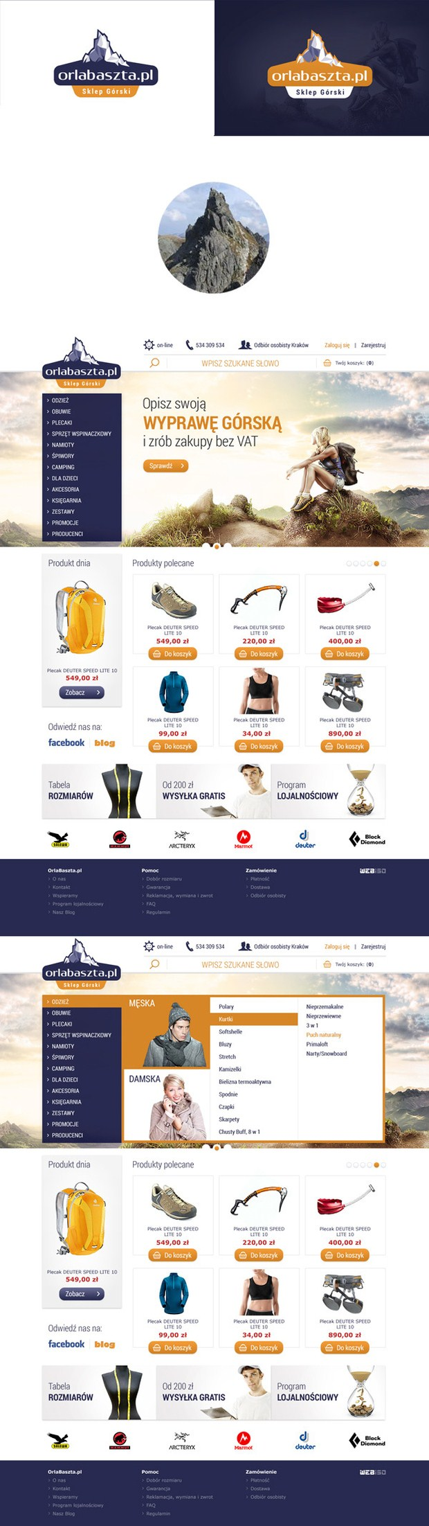 Orlabaszta online shop Web Design
