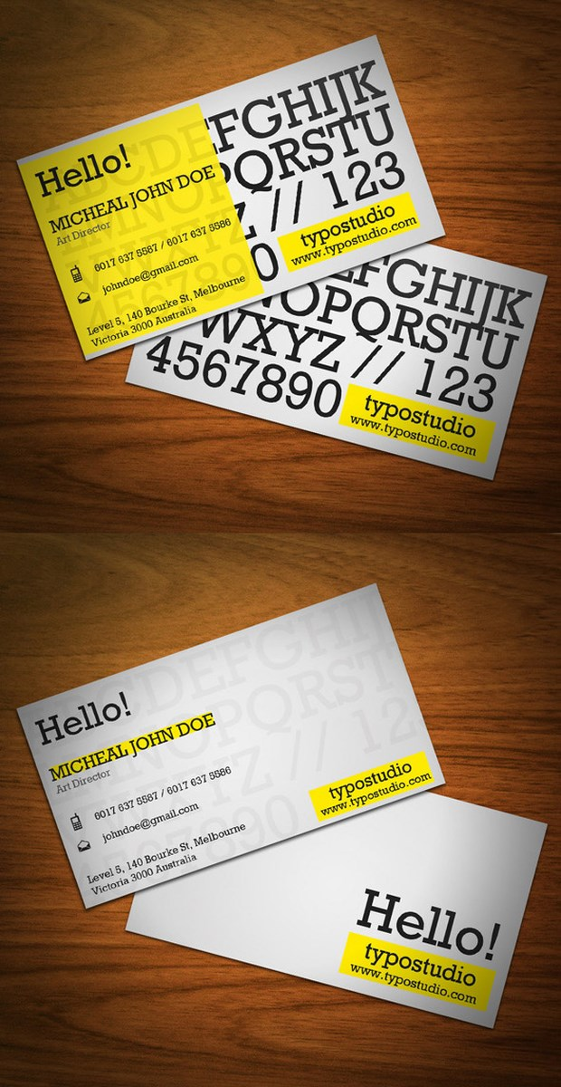 Creative Business Card Design Inspiration (1)