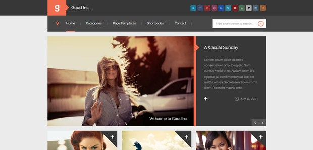 GoodInc Flat Responsive WordPress Theme