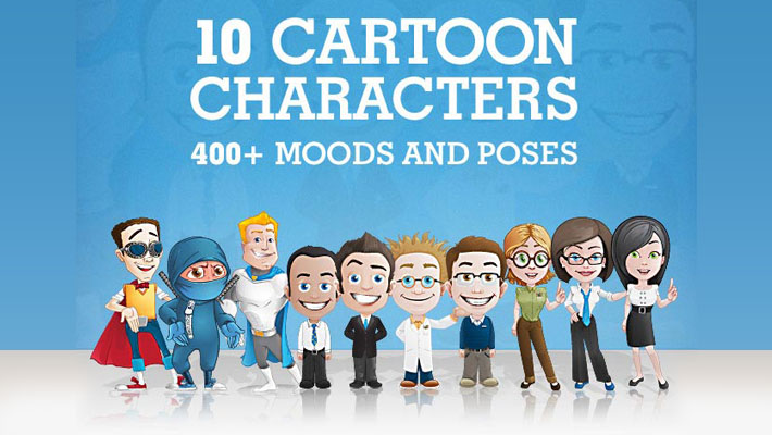 Deal of The Week: 400+ Professional Cartoon Characters 1