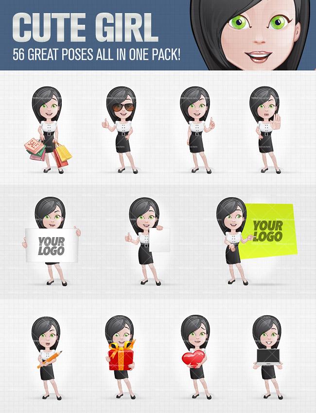 Cute Girl Cartoon Characters