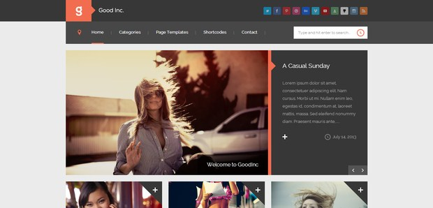 GoodInc Flat Responsive Layout