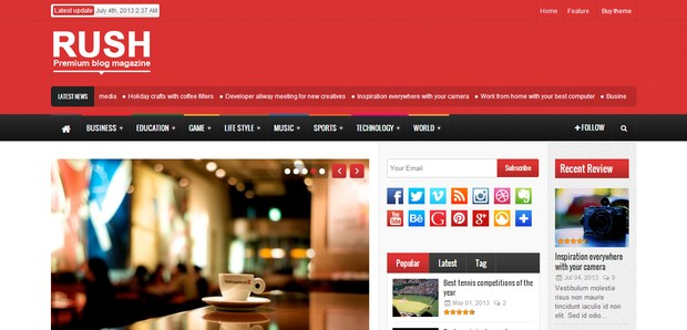 Rush - WordPress Magazine Theme