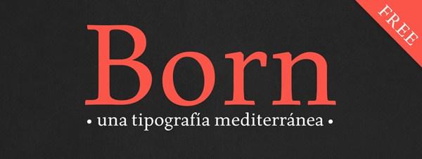 Born Typeface (Free Font)